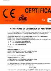 CE certificate of pot bearings