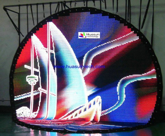 Flexible LED Curtain- Unregular Shape Curtain Display Picture Galary