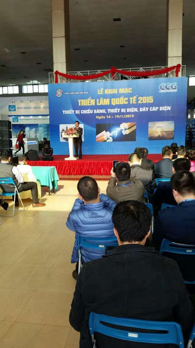 attending the seminar in Vietnam