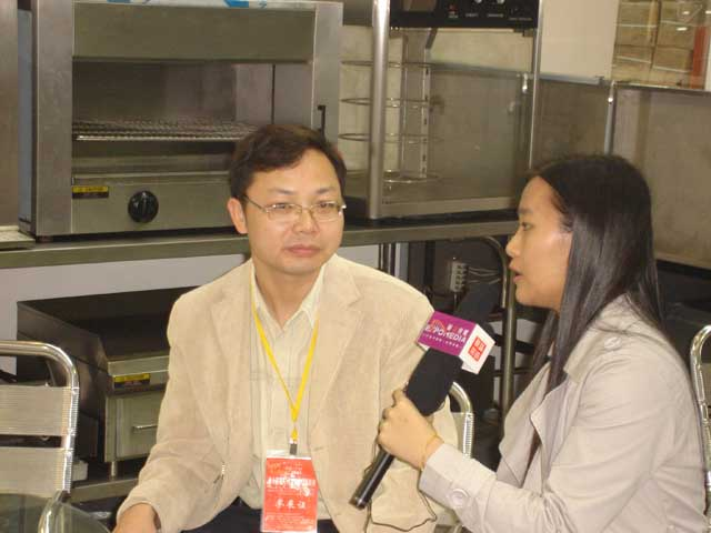 Interviewed by Huicong in Catering Equipment Exhibition