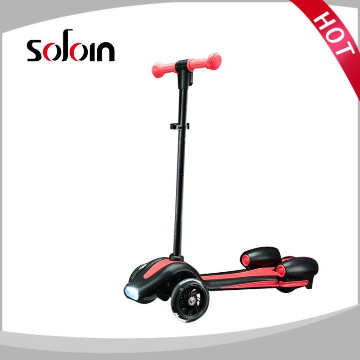 3 wheel Fire jet electric mini kids kick scooter