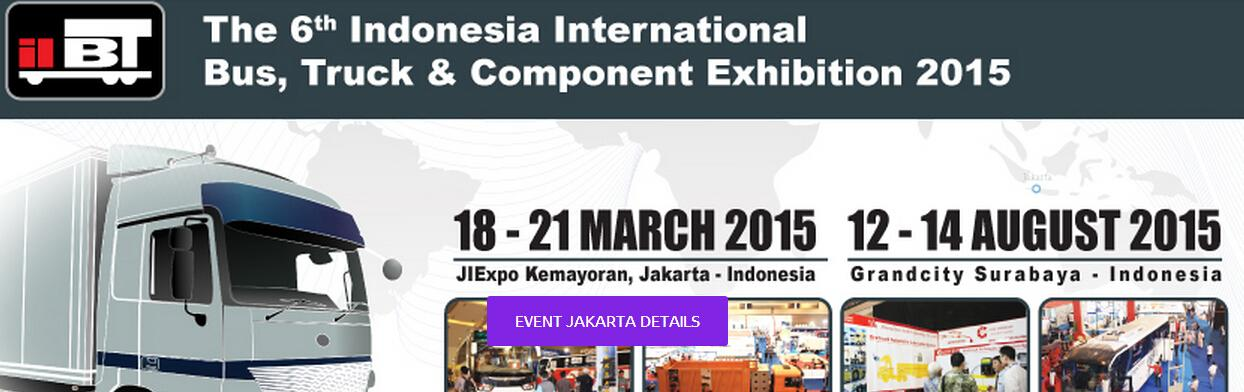 The 6th Indonesia International Bus,Truck & Component Exhibition 2015