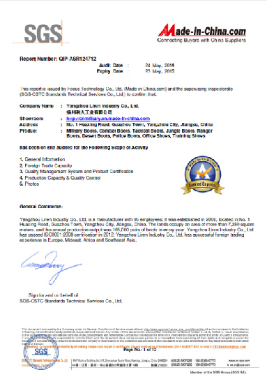 SGS Certificate(1-12)