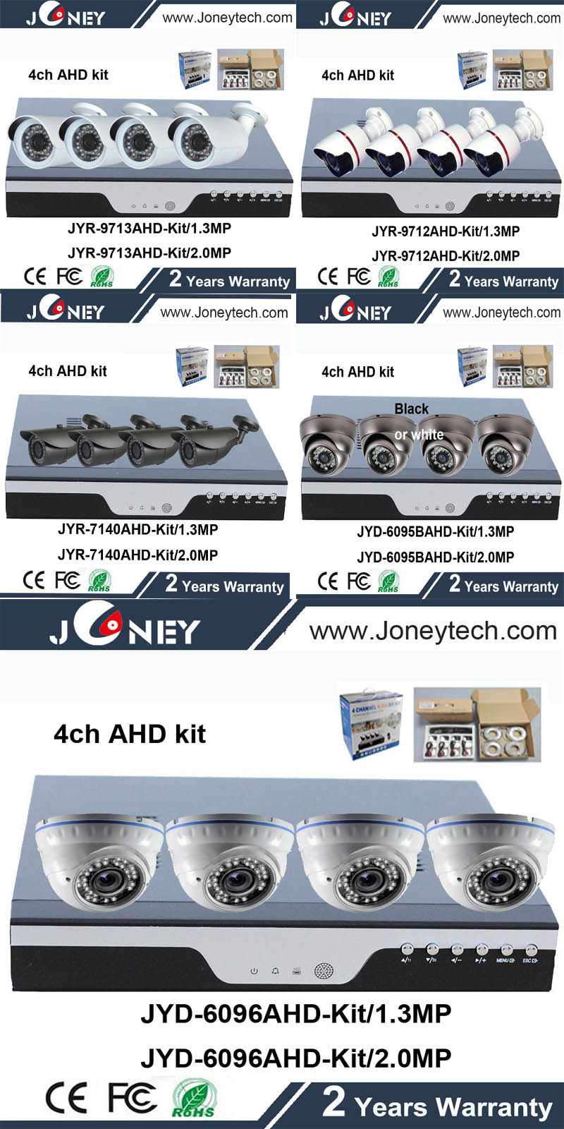 HD HAD DVR kit ,4ch and 8ch