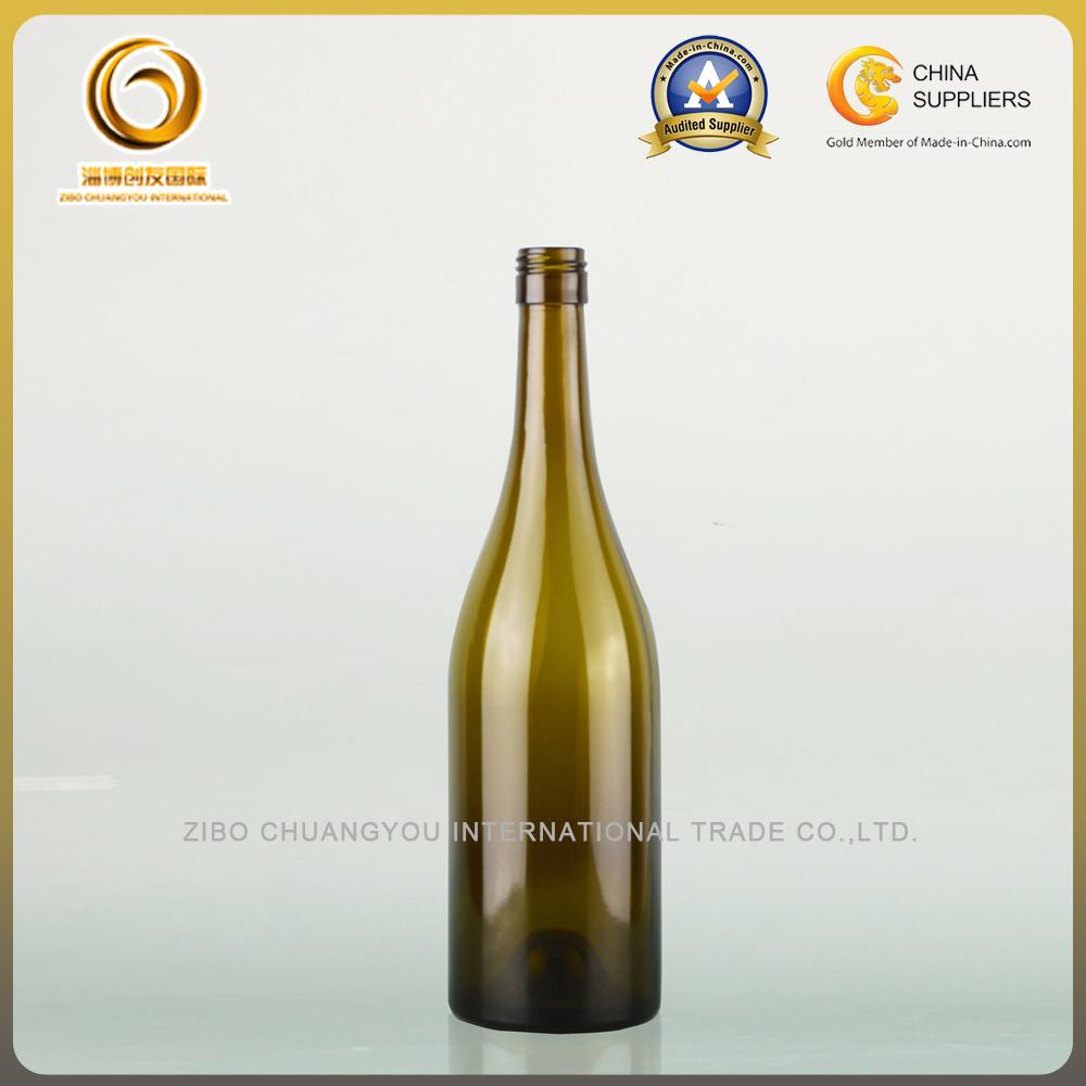 Screw cap 750ml wine bottles for burgundy