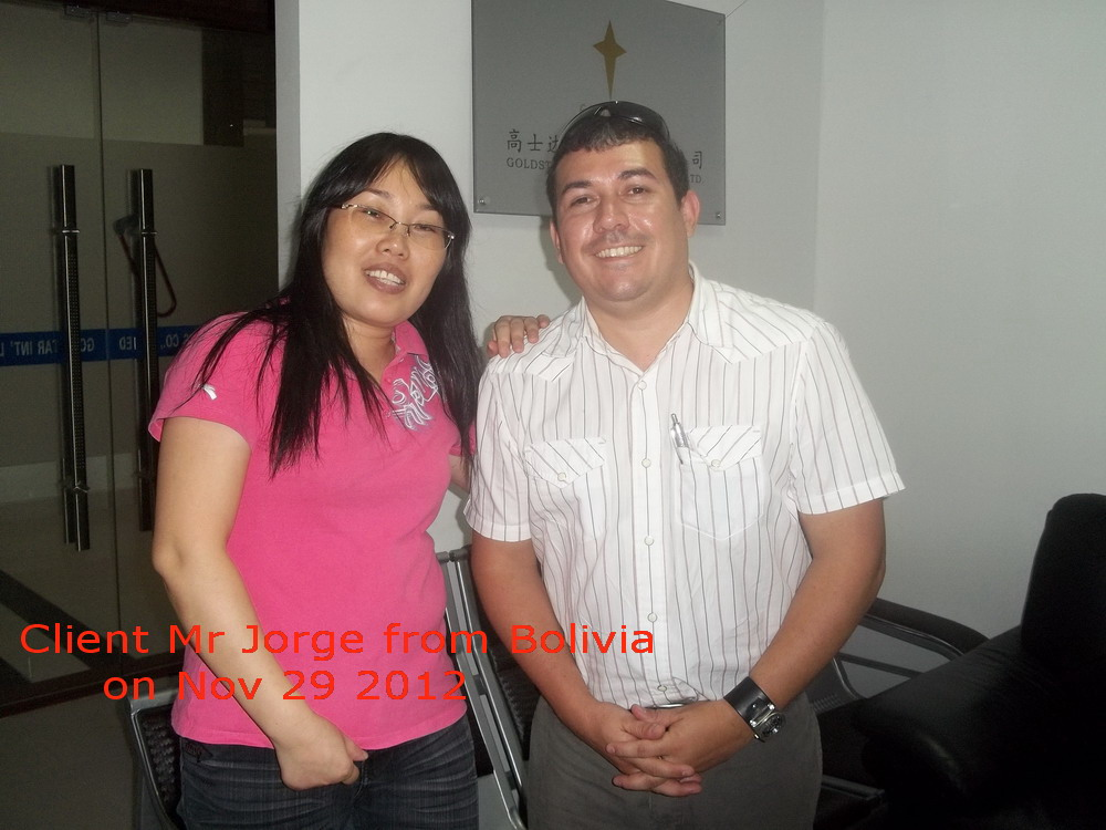 Bolivia Client Visit Our Company