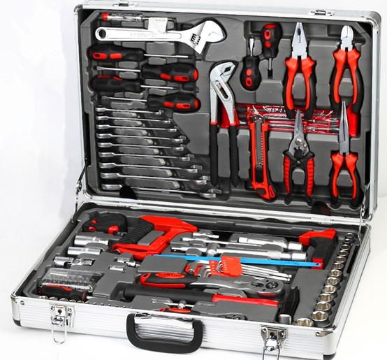 114pcs mechanical alumium case tool set