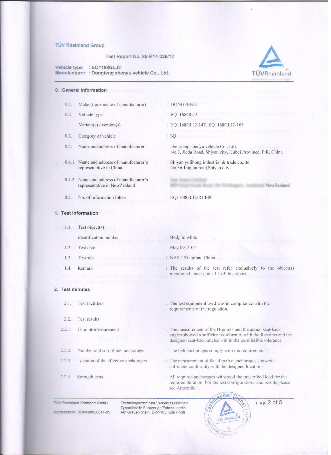ADR Certificate For Truck Safety-belt