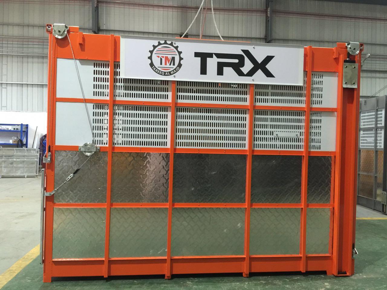 XMT new orange construction hoist