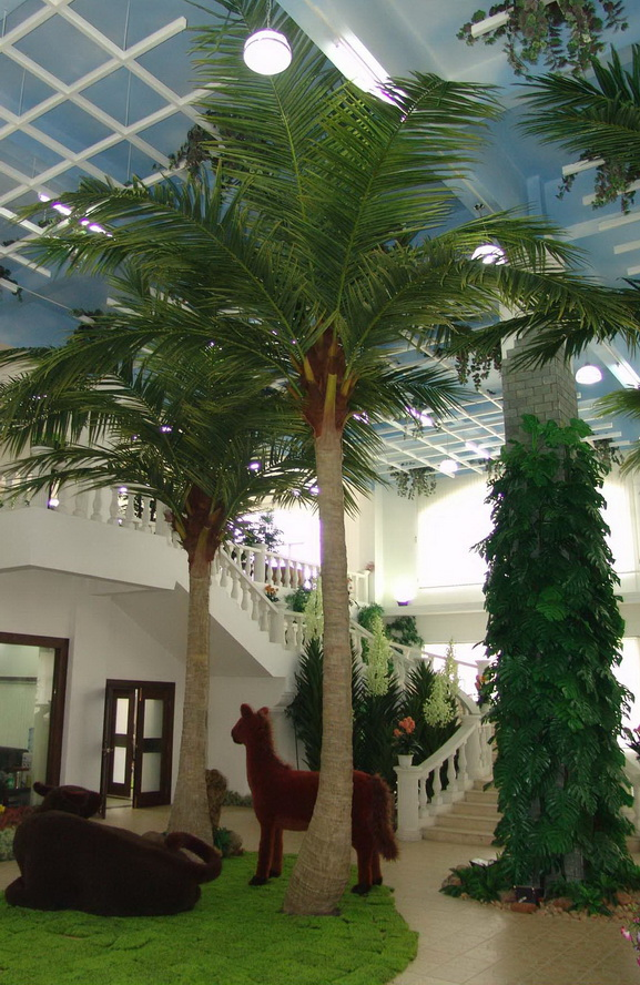 Coco Palm Tree and Simulation Animal Project