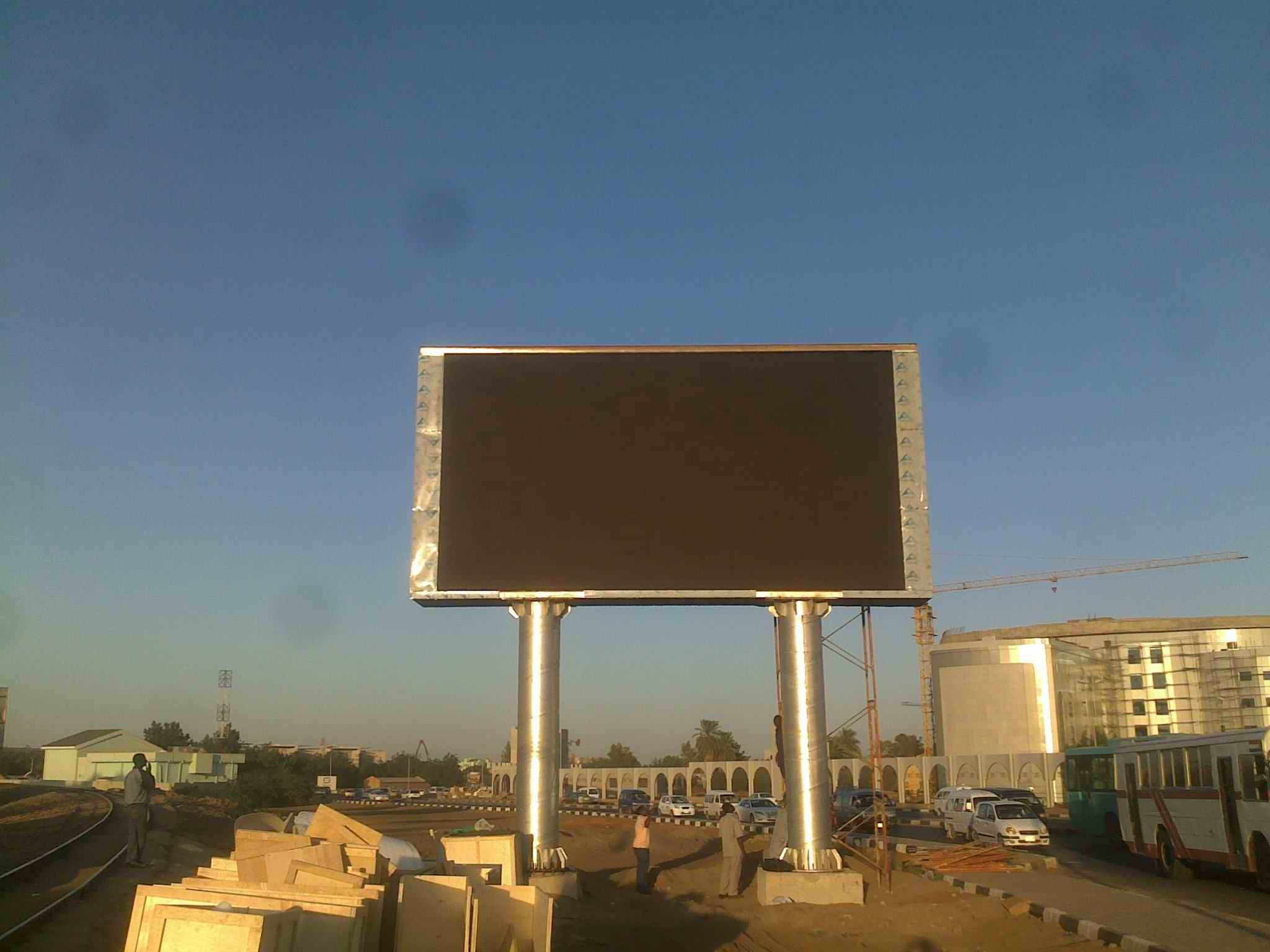 Led Billboard Project for Sudan - Haiwell Advertising Industrial ...