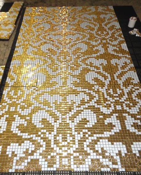 Glass Mosaic Pattern, Mosaic Glass Wall Tile (HMP648)