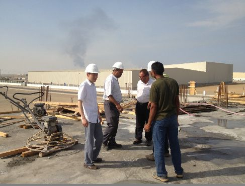 Working with Saudi owner on the construction site
