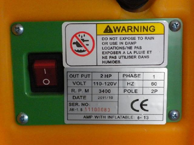 CE label-110V-120V blower