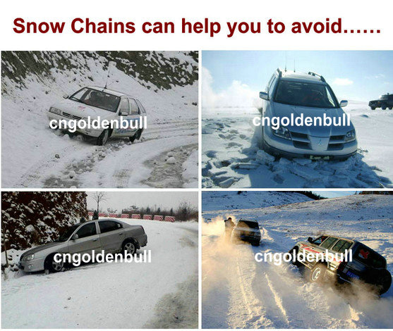 snow chains help you