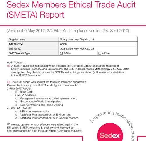 SEDEX Report