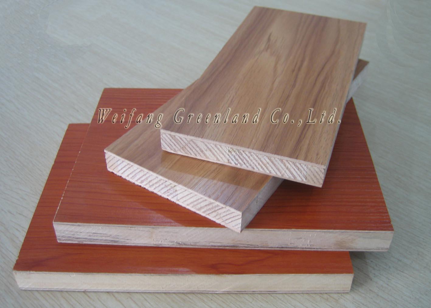 Thkk Block Board 12mm ~ Melamine block board weifang greenland co ltd