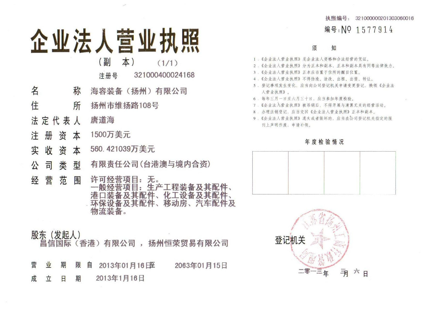 Company Business Licence