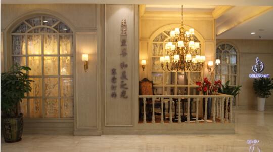 Iron chandelier showroom