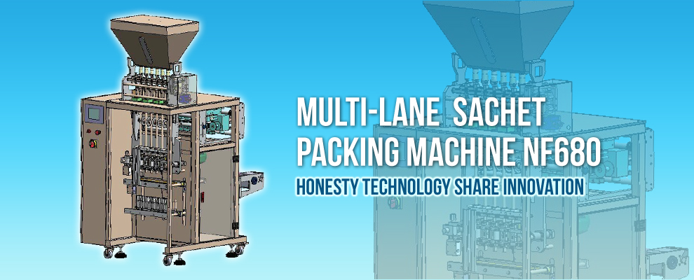 NEW DEVELOPED MULTILANE POWDER PACKING MACHINE
