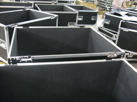 Flightcase on production line