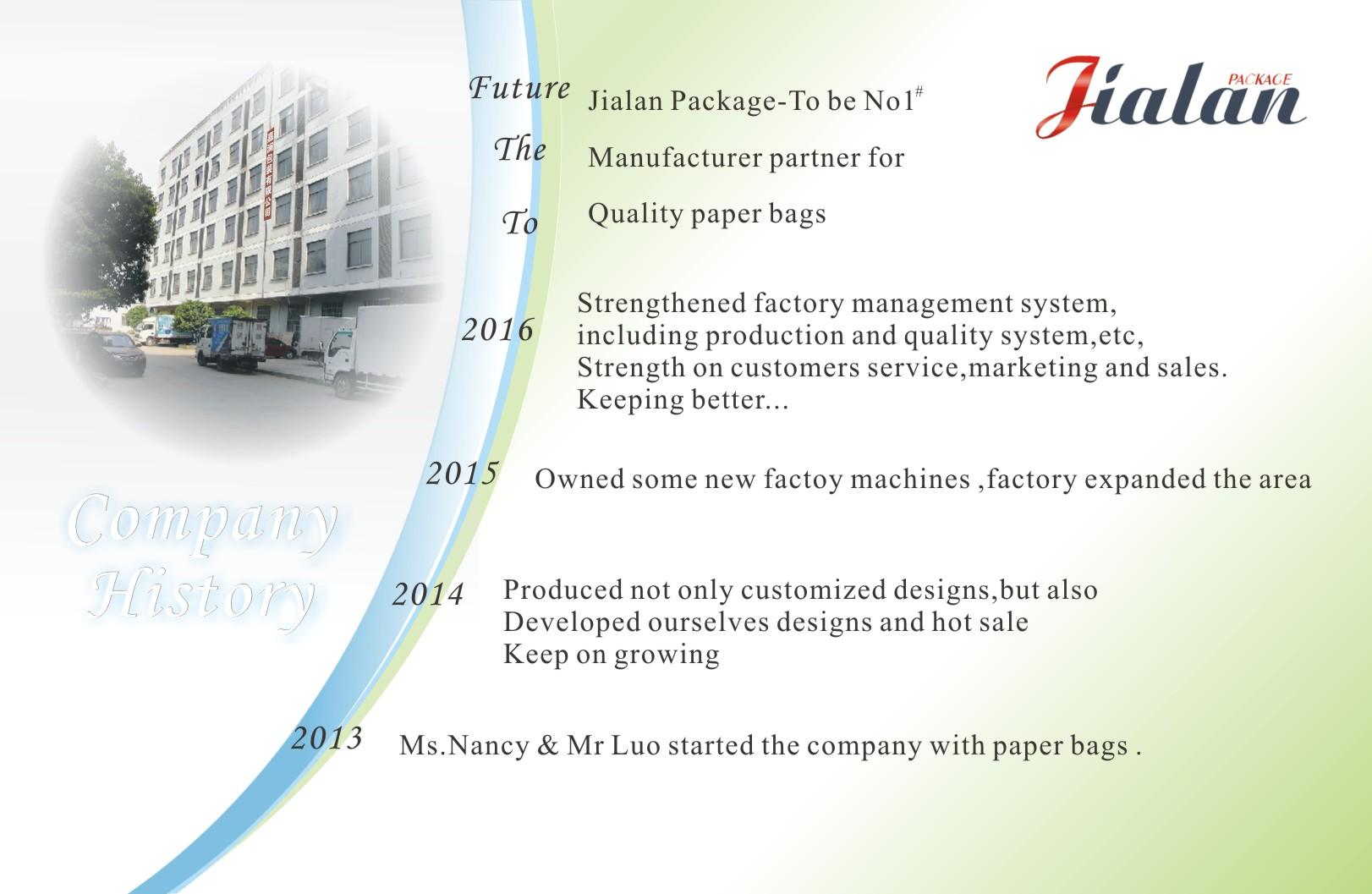Jialan Package History