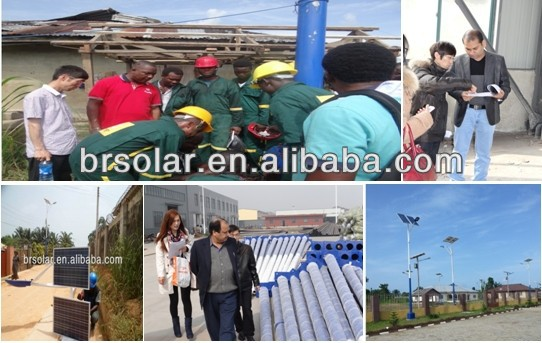 Solar Street Lights with Battery at The Bottom of The Pole Project