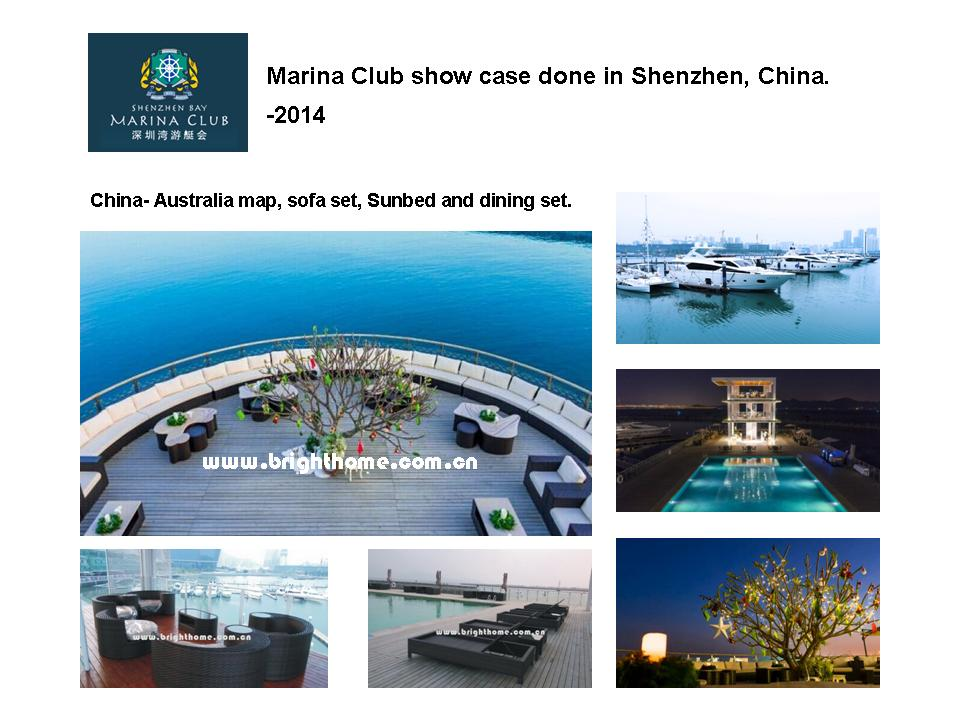 Marina Club show case done in Shenzhen, China. -2014