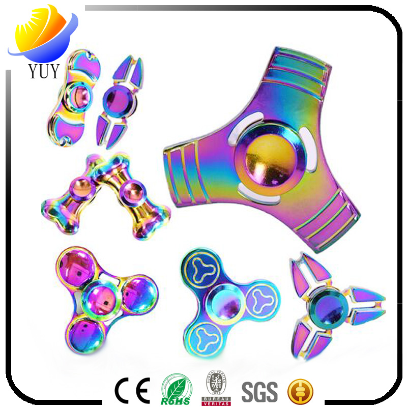 2017 hot sell and creative metal and plastic decompression gyroscope of Fingertip gyro and hand spin