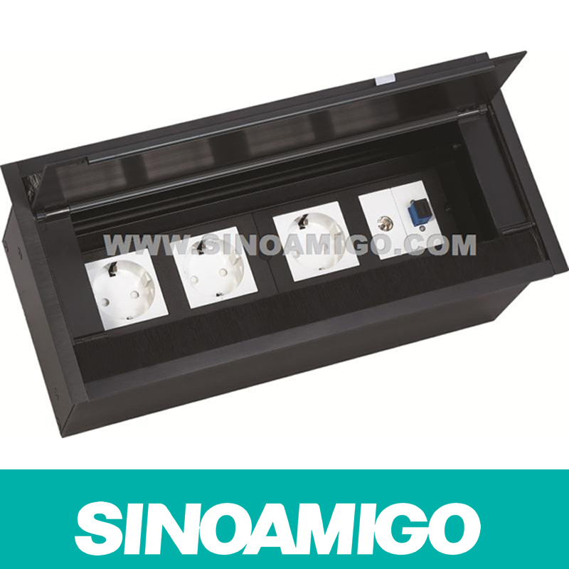 Office Black Table Socket/Office Media Hub/Table Top Box (STS-216)