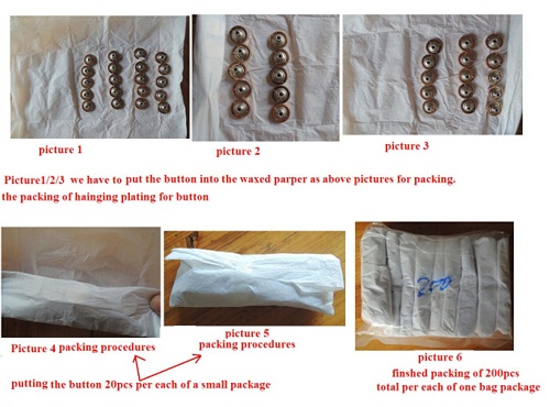 Button item packing