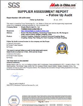 2015 Supplier Assessment Report