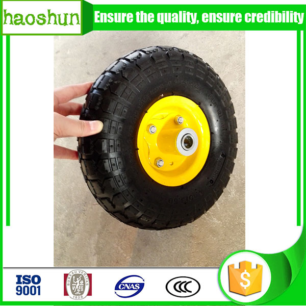 Small rubber wheel for hand trolley