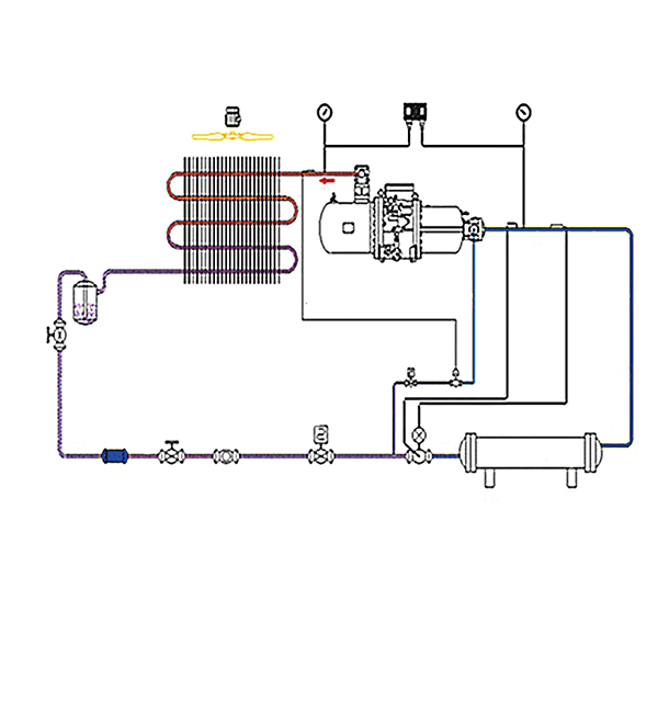 air cooled screw chiller working diagram