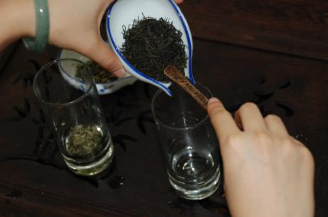 Green Tea brewing art Step 4