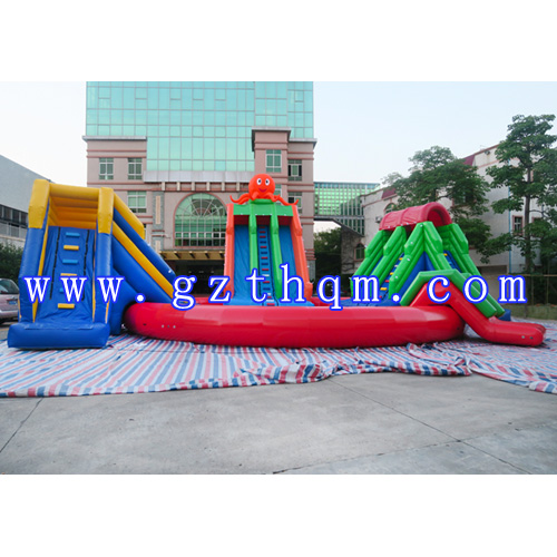 Amusement Park Inflatable Slide/inflatable water pool