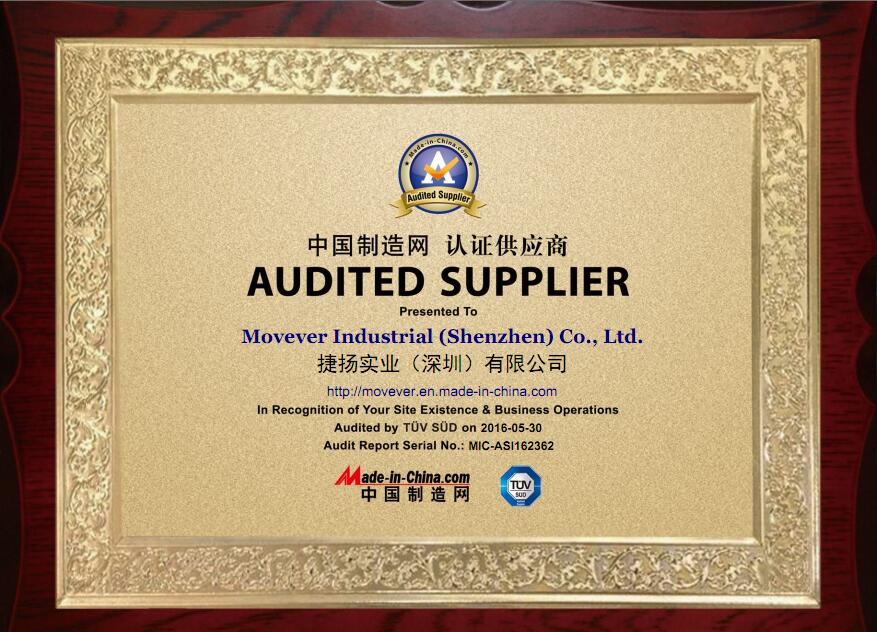 TUV inspection company certificate