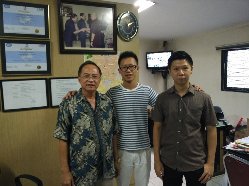 pay a visit to Indonesia customer at Jakarta