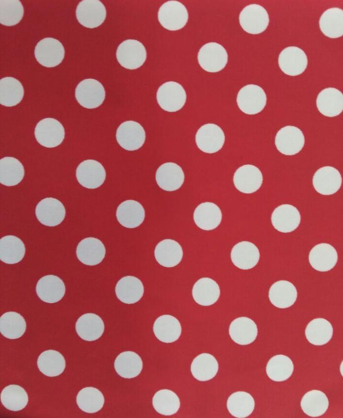 Red white dot printing fabric for swimwear(HD1401023)