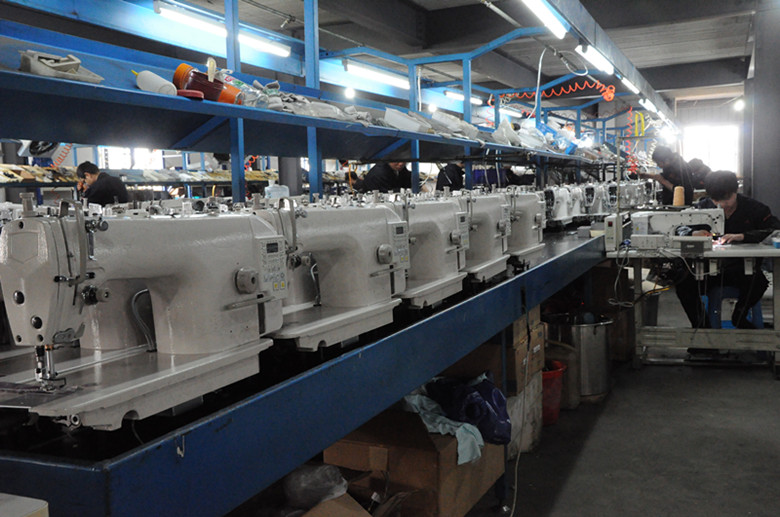 production line for direct drive lockstitch sewing machine