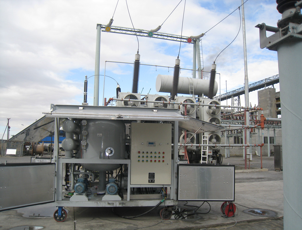 Project on Site of Transformer oil centrifuging machine