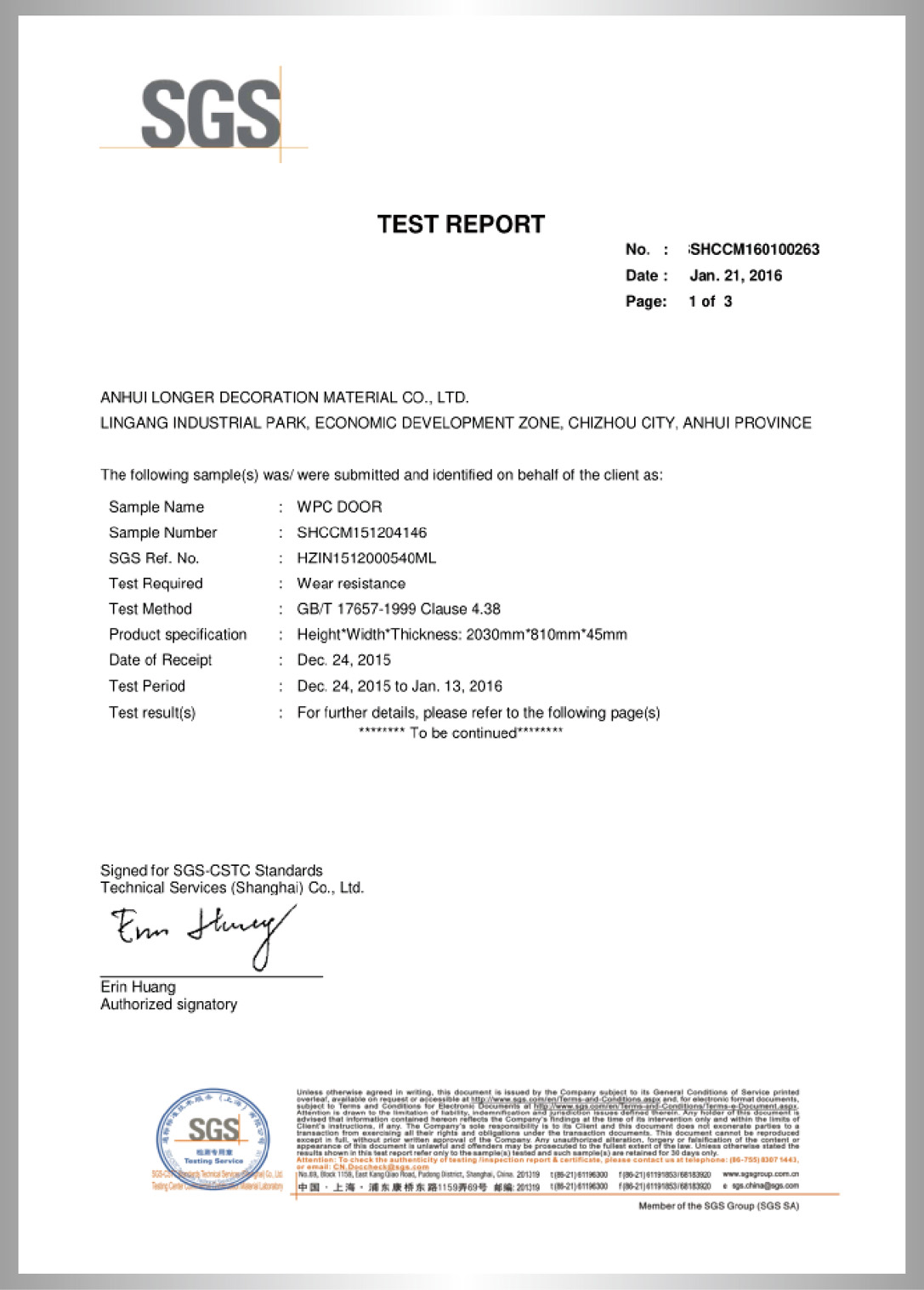wear resistant test