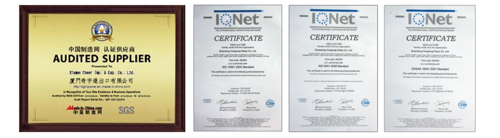 SGS / ISO Certicates