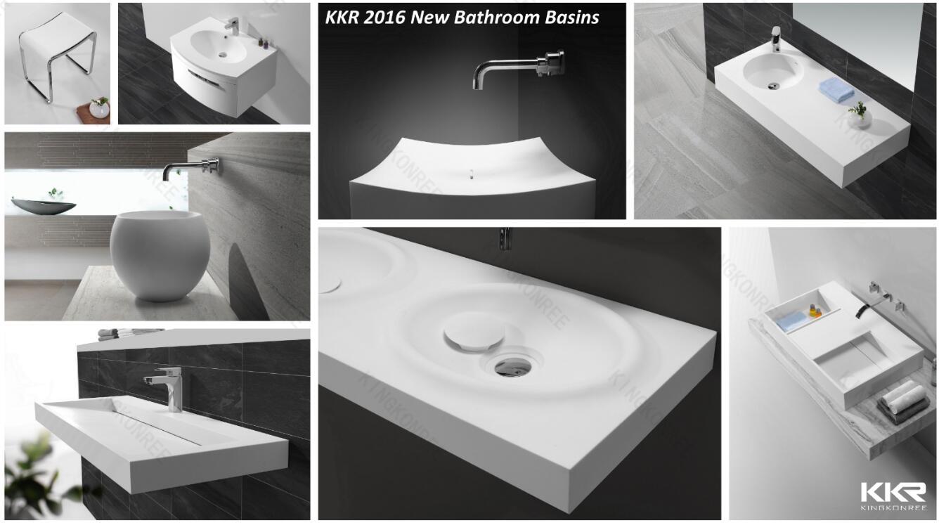 KKR 2016 New Design Solid Surface Stone Washbasins