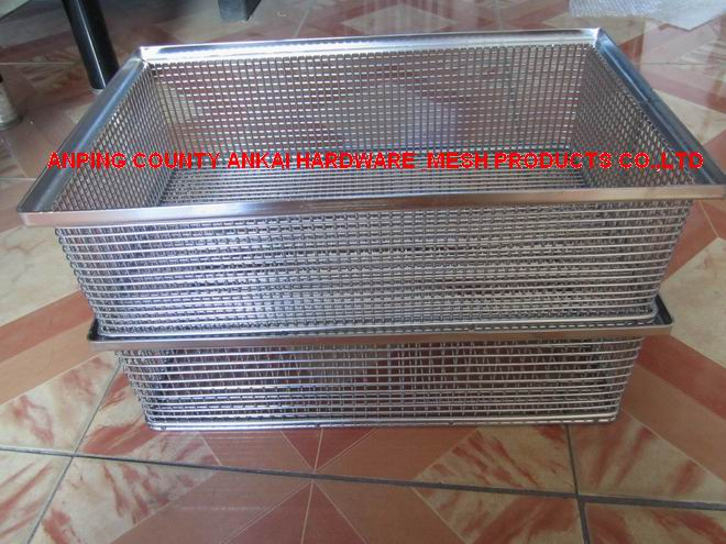 Stainless Steel Basket for Cleaning Metal Parts