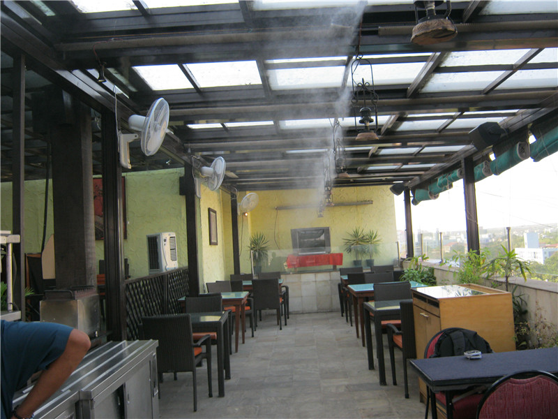 Winteco misting cooling system installed in restaurants