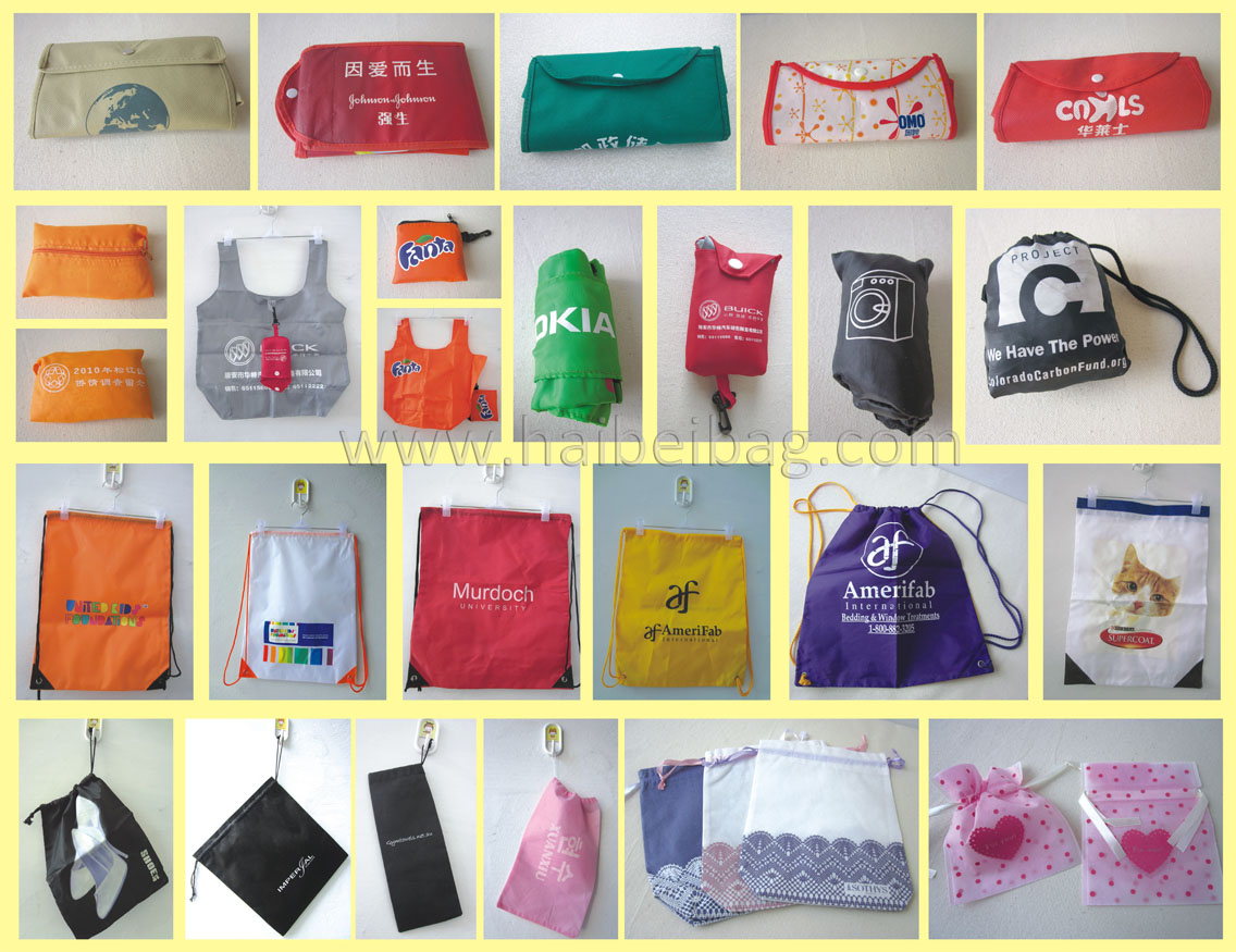 foldable bag /drawstring bag