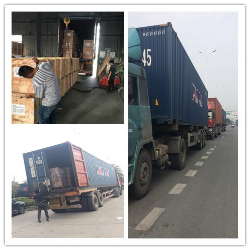 Delivery goods to America client six 40'HQ