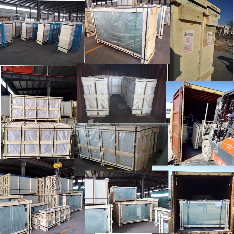 Solid Package of Customized Size Solar Glass and Greenhouse Glass