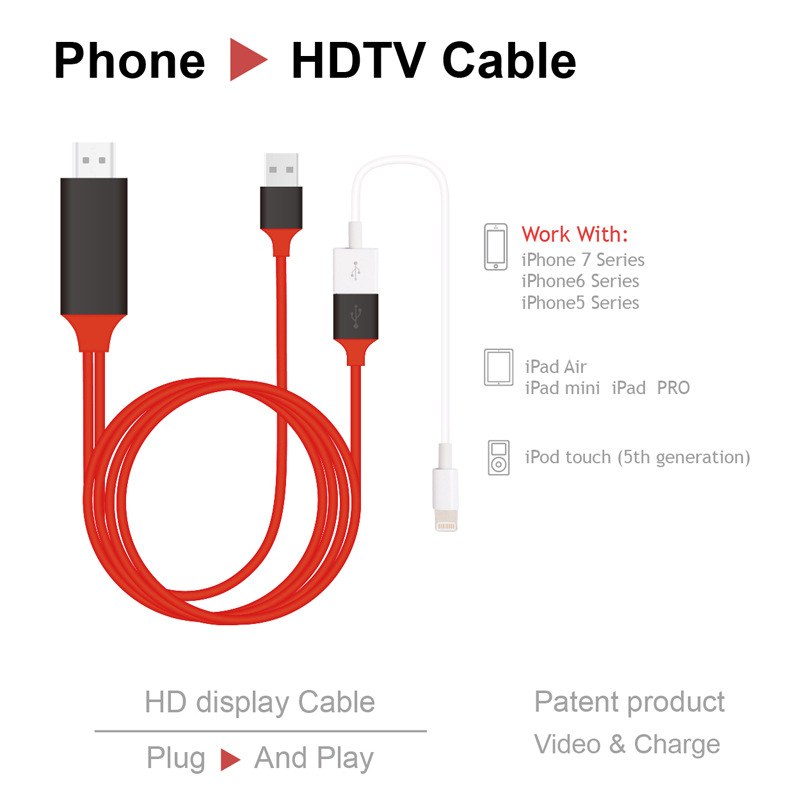 2017 New HDMI MHL Cable for ios and Android
